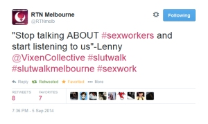 Reclaim the Night supports #sexworkers at SlutWalk